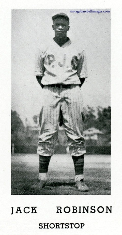 1937 yearbook photo of baseball player Jackie Robinson