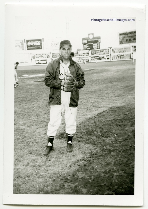 Vintage original snapshot of baseball player Peanuts Lowrey, circa early 1950s