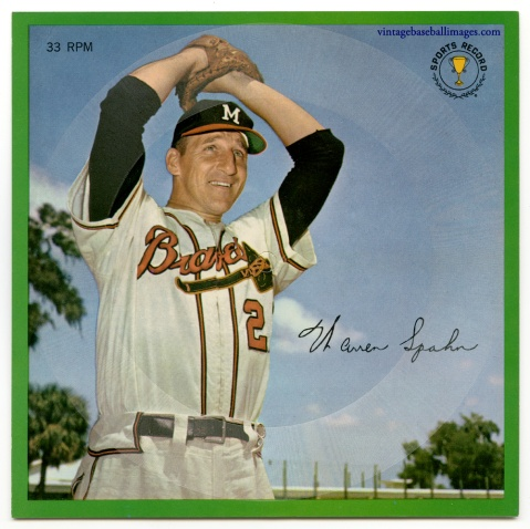 1964 flexi disc of Hall of Fame pitcher Warren Spahn