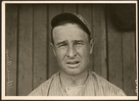Vintage portrait of first baseman Frank Chance of the Chicago Cubs, 1910