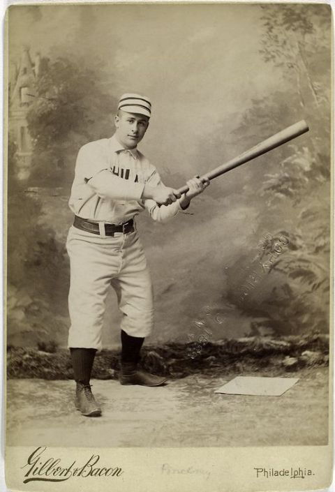 Vintage cabinet card photo of early major leaguer George Pinckney